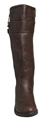 1 Brown Top boots Ginger Womens Moda qYtYB1