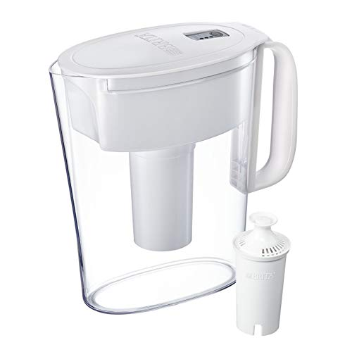 Brita Small 5 Cup Water Filter Pitcher with 1 Standard Filter, BPA Free - Metro, White