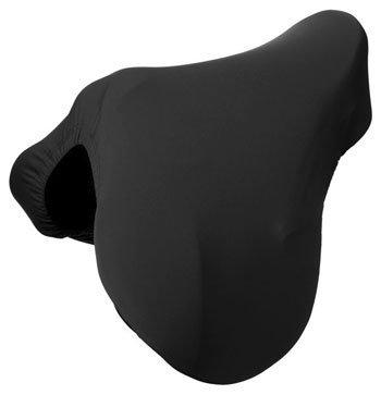 Tough-1 Fleece Lined Lycra English Saddl Cover Blk