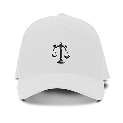 Scales Of Justice Judge Embroidery Adjustable Structured Baseball Hat - Scale Baseball