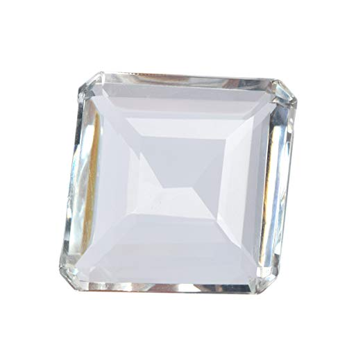 95.00 Ct Topaz Perfect Square Gem Stone Gemstone Faceted White Topaz for -