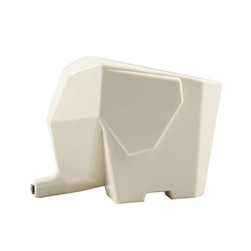 Betan Cute Elephant Plastic Cutlery Drainer Storage Holder Box for Home Kitchen, Bathroom, Toothbrush, Small Knife Accessories (White)