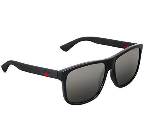 Frame Black Eyeglasses 101 - Gucci GG 0010 S- 001 BLACK/GREY Sunglasses
