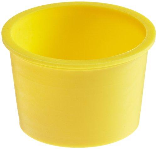 Kapsto 610 U 241 Polyethylene Universal Protection, Yellow, 33.0 mm Tube OD (Pack of 100)