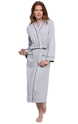 cotone Grigio Vestaglia donna lunga PajamaGram da ICzqACw