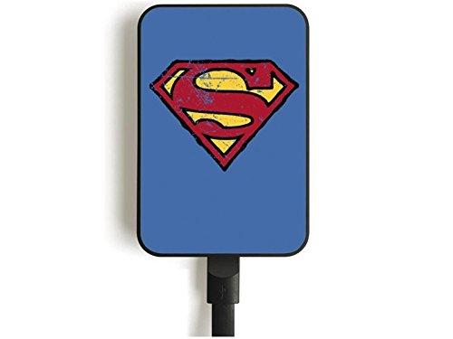 Superman Credit Card Sized Power Bank 5000 mAh Logo Comics Adattatori