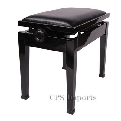 Adjustable Piano Bench with Quick Adjustment in Ebony