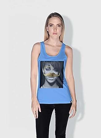 Creo Rihanna 3Araby Tanks Tops For Women - S, Blue