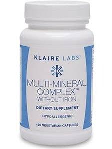 Klaire Labs, Multi-Mineral Complex w/o Iron 100 caps - No Iron Multi Mineral Complex