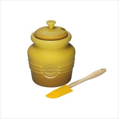 Le Creuset Stoneware 14-Ounce Mustard Jar, Dijon