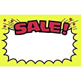 """Sale"" Write On Sale Sign Cards 5 1/2"" x 3"