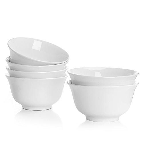 Durable Plastic Soup Bowl (Teocera Porcelain Bowls - 16 oz Bright White Porcelain Bowl Set, Great for Cereal, Soup, Berries, Ice Cream, Desserts)