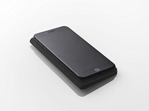 [iPhone 7 Plus Case], SQUAIR - Calf Leather Case for iPhone7 Plus - Book Type (Black) (Black) by SQUAIR (Image #5)