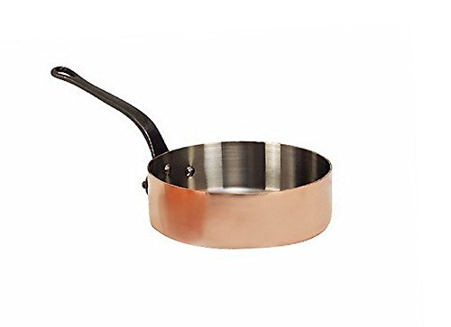 de Buyer 6462.28 3 in. Stainless Steel Interior Saute Pan without Lid