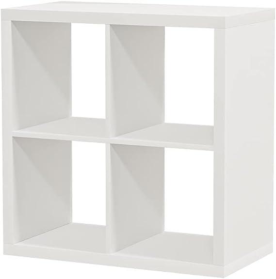 Ikea Kallax - Estantería (77 x 77 cm, 2 unidades), color blanco