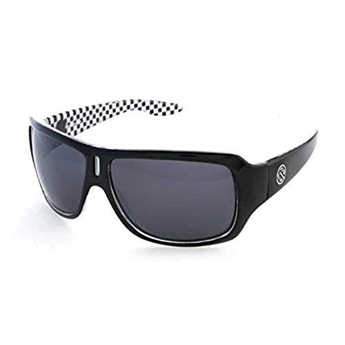 Filtrate Eyewear ZEPHYR Sunglasses- Black Checks with Grey Polarized Lenses ()