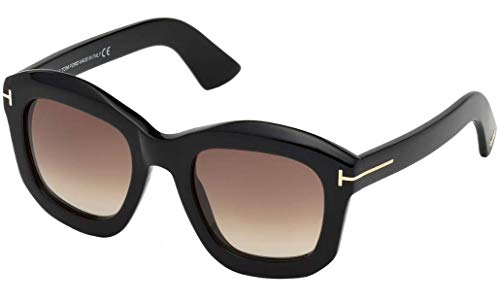 Tom Ford FT0582 01F Shiny Black Julia Square Sunglasses Lens Category 2 Size 50 (Tom Ford Sunglass Lens)