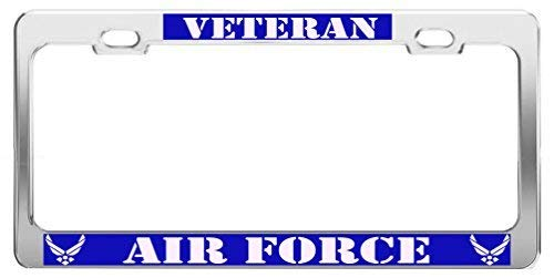Veteran Air Force Military Us Army Career License Plate Frame Funny Metal Car Tag Holder Fun, Thanksgiving Day Gifts
