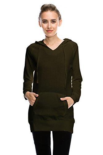 Womens Fleece Hoodie Pullover Sweatshirt