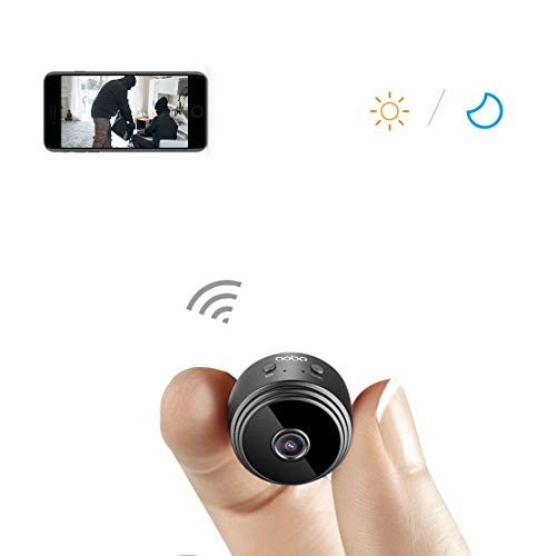 Hidden Camera AOBO Wireless HD 1080P Indoor Home Small Spy Cam Security Cameras Nanny Cam with Motion Detection Night Vision for iPhone Android Phone iPad PC (spy Camera) ()