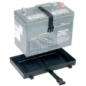 (Attwood 90925 BATTERY TRAY WITH STRAP HOLDER/GROUP 24 BATTERY)