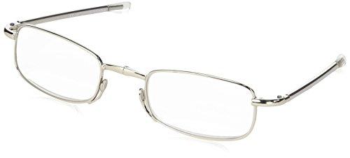 Surfen Na L500Lesebrille Farbe Silber mit Teleskopstangen zusammenklappbar in zwei und passt in Etui metallisch mit Schnappverschluss-4X 8CM Dicke 1,5cm ideal auch für Taschen Kleine