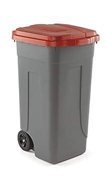 Kit 3 bidoni raccolta differenziata 100 lt Giallo Rosso Blu