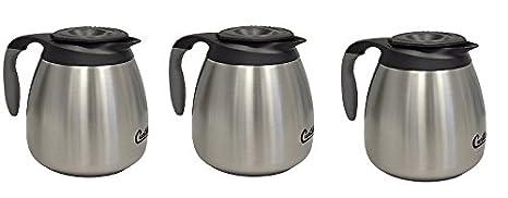 Each Ss Exterior//Liner 64 Oz Brew-Thru Lid Commercial Airpot Pourpot Beverage Dispenser Wilbur Curtis Thermal Dispenser Seamless Pourpot CLXP6401S100