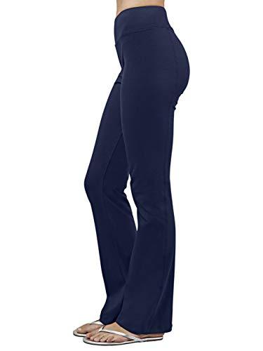 (Blue Canoe Organic Cotton Baby Bootcut Yoga Casual Pant Navy Blue)