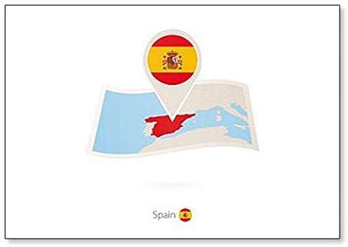 Mapa de España de papel plegado con bandera de España Classic imán para nevera: Amazon.es: Hogar