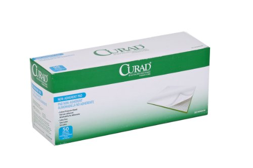 "Medline Curad Sterile Non-Adherent Pad, 3""x8"" (Pack of 50)"