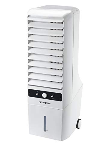 Crompton Mystique Turbo 22-Litre Tower Cooler (White)