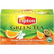 Lipton Green Tea Orange Passionfruit & Jasmine Tea Bags, 20ct(Case of 2) ()