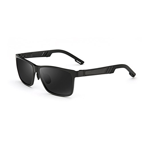 Al Driving Negro De Gafas Mg Protection HAIYING Color Sol Frame Ultra Al Metal Polarizadas De Sol Hombres Mg Hombres Gafas Negro Light Wayfarer Metal FpZqfd