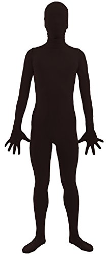 VSVO Adult Black Black 2nd Skin Full Body Zentai Supersuit Costumes (XX-Large, Black) (Sexy Holloween Costumes)