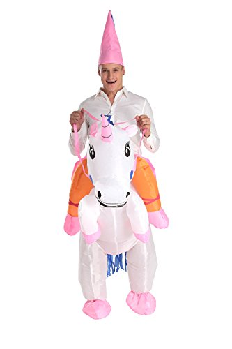 YICHENN Inflatable Unicorn Costume Adult Sumo Inflatable Costume Halloween Fancy Dress (One Size, -