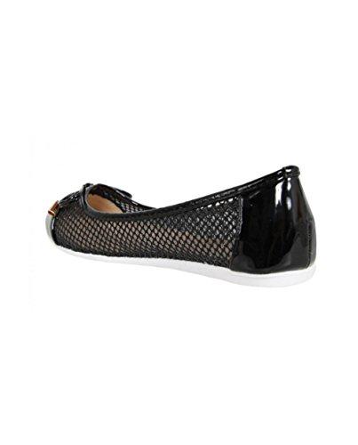 Femmes Les Les Noires Chaussures Urbaines Plates Urbaines Chaussures De F3155 Femmes RqA5fTxwx