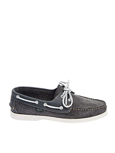 PARABOOT Men's 780373 Grey Fabric Loafers DHmSUmc