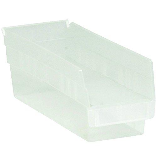 "Aviditi BINPS101CL Plastic Shelf Bin Boxes, 11 5/8"" x 4 1/8"" x 4"", Clear (Pack of 36)"