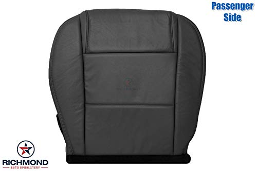 Richmond Auto Upholstery - Passenger Side Bottom Replacement Leather Seat Cover, Black (Compatible with 2005-2009 Ford Mustang V6) (Dark Charcoal