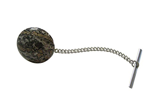 Leopard Skin Agate Gemstone Tie Tack by Kiola Designs