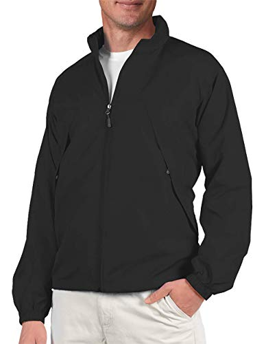 SCOTTeVEST Mens Pack Windbreaker Jacket - 19 Pockets - Spring Jackets for Men (BLK L)