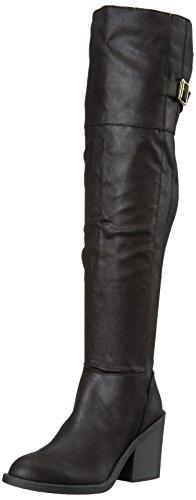 Qupid Damen Marcel-09X Overknee Stiefel Schwarz