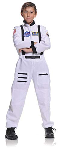 Underwraps Children's Astronaut Costume - White, Medium (6-8)