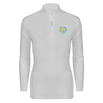 157b16931 Southern University Ladies Syntrel Interlock White 1 4 Zip  Jaguar Head  -  Small
