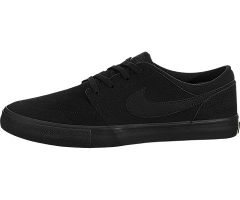 NIKE Men's SB Portmore II Solar Black/Black/Anthracite Skate Shoe 12 Men (Mens Nike Sb)