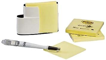 Post-it dispensador pared negro/blanco + 3 tacos de 100 notas adhesivas F