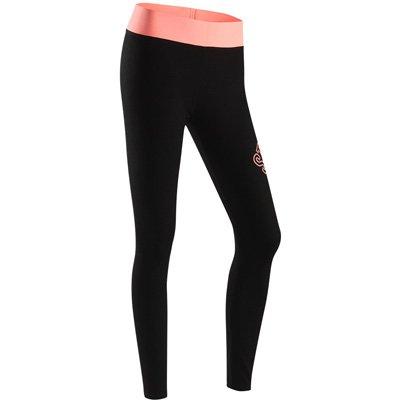 MAYUAN520 Frauen Yoga Hosen Fitness Sport Hose Fitnessraum mit Leggings elastische Taille schlank Glatt Persönlichkeit Buchstaben Muster Sport Strumpfhose