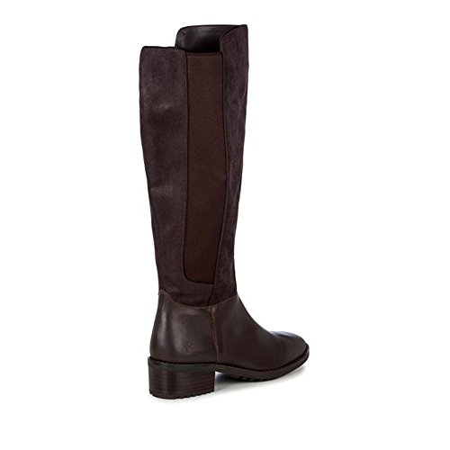 Leather Emu Cleveland High 7 Knee Rise UK W11525 Chocolate Womens Mid Collection Boot rWrPYRq