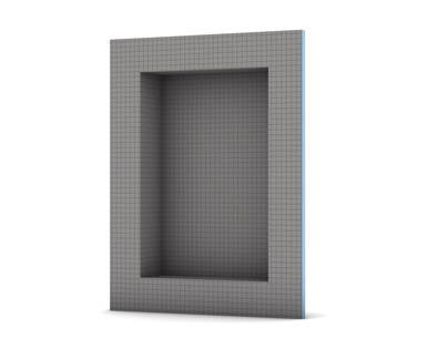Wedi US3000004 Shower Niches, Square Edge Niche, 16'' H x 12'' L